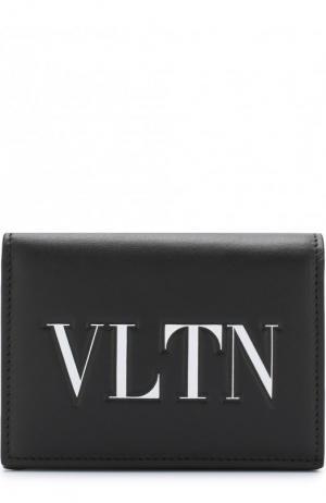 Кожаный кошелек с принтом Garavani Valentino. Цвет: черно-белый