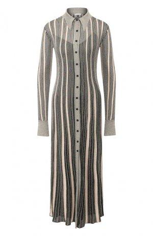 Платье-миди M Missoni. Цвет: серебряный
