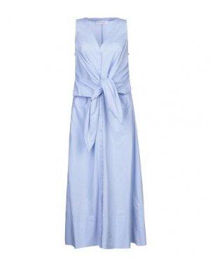 Длинное платье ANNA RACHELE. Цвет: небесно-голубой