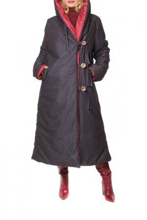 Пальто Kata Binska. Цвет: черный, бордовый