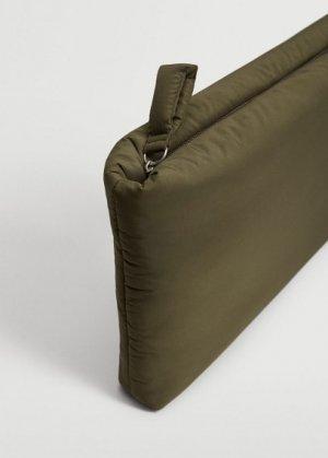 Стеганый чехол для ноутбука - Soft Mango. Цвет: хаки