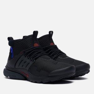 Мужские кроссовки Air Presto Mid Utility Darth Vader Nike. Цвет: чёрный
