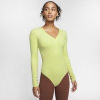Женское боди из ткани Infinalon с длинным рукавом Yoga Luxe Nike
