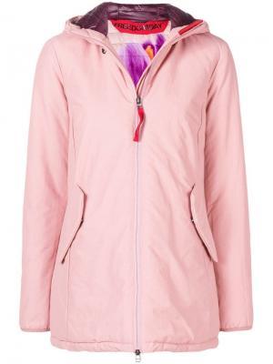 Короткая куртка с капюшоном Freedomday. Цвет: розовый