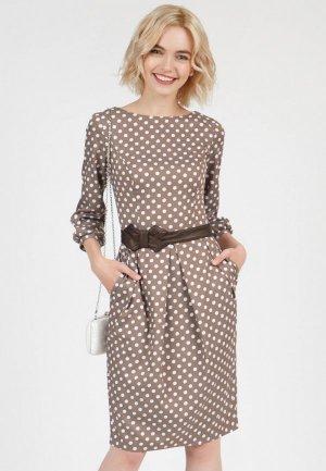 Платье Olivegrey DAYAN. Цвет: бежевый