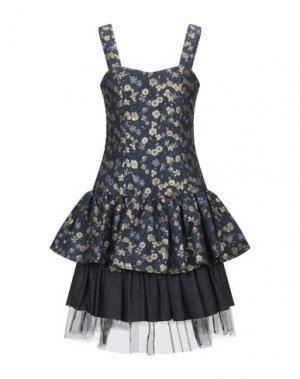 Короткое платье I'M ISOLA MARRAS. Цвет: грифельно-синий