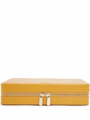 Большая шкатулка для украшений Maria WOLF. Цвет: желтый