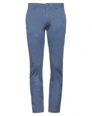 Повседневные брюки GAUDÌ. Цвет: грифельно-синий