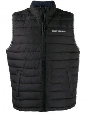 Дутый жилет с логотипом Calvin Klein Jeans