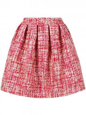 Твидовая юбка-мини Philipp Plein. Цвет: красный