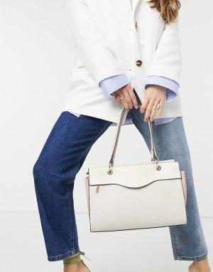 Большая двухцветная сумка с ручками Lana-Мульти Fiorelli