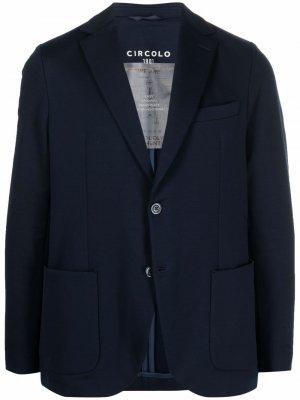Пиджак узкого кроя Circolo 1901. Цвет: синий