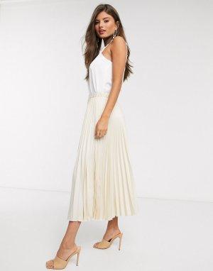 Плиссированная юбка -Белый Closet London