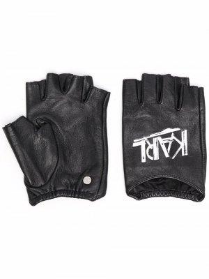 Перчатки K/Ikon с логотипом Karl Lagerfeld. Цвет: черный