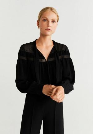 Блуза Mango - BRERA. Цвет: черный