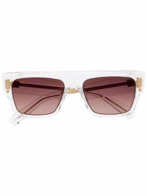 Солнцезащитные очки в квадратной оправе Balmain Eyewear. Цвет: нейтральные цвета