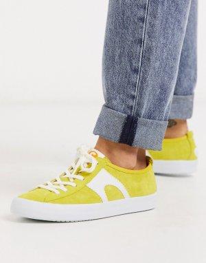 Желтые замшевые кроссовки -Желтый Camper