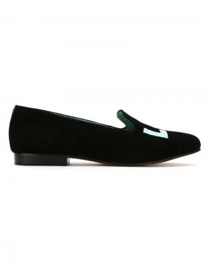 Suede Love Colors loafers Blue Bird Shoes. Цвет: черный