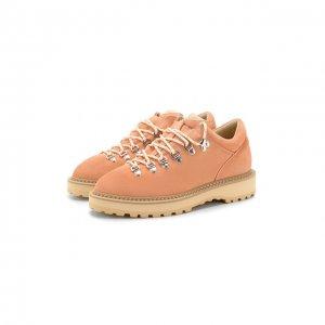 Замшевые ботинки Diemme. Цвет: розовый