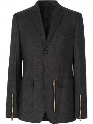 Пиджак с молниями Burberry. Цвет: черный