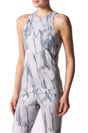 Майка Run Print Tank adidas. Цвет: серый