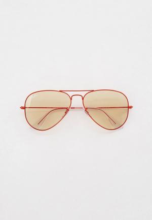 Очки солнцезащитные Ray-Ban® RB3025 9221T2. Цвет: красный
