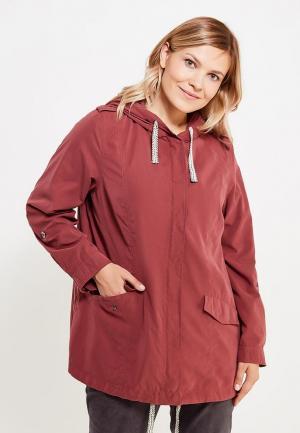 Куртка Ulla Popken. Цвет: бордовый