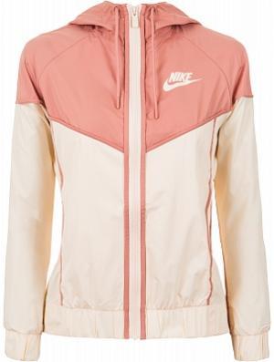 Ветровка женская Sportswear Windrunner, размер 48-50 Nike. Цвет: бежевый
