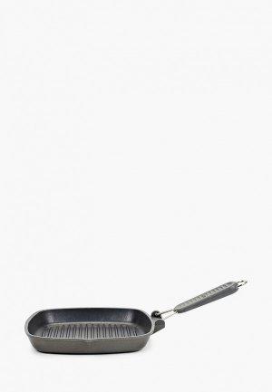 Сковорода Risoli Гриль Saporelax, 26x26 см,со складной ручкой. Цвет: черный