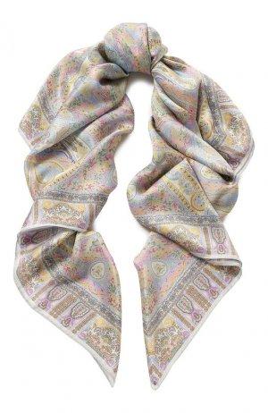 Шелковый платок Michele Binda. Цвет: синий