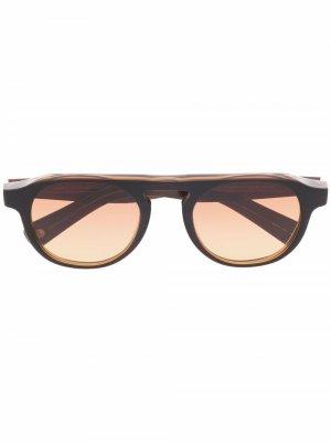 Солнцезащитные очки Harding X в круглой оправе Garrett Leight. Цвет: коричневый