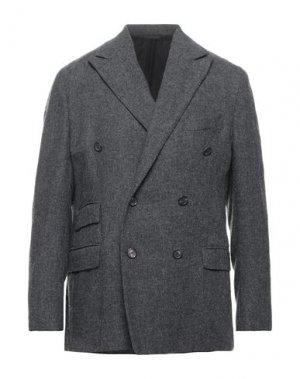 Пиджак DOPPIAA. Цвет: стальной серый