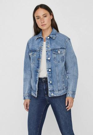Куртка джинсовая Vero Moda. Цвет: синий