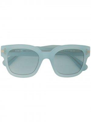 Солнцезащитные очки в квадратной оправе с логотипом AMIRI. Цвет: синий