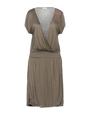 Платье до колена DEPT. Цвет: зеленый-милитари