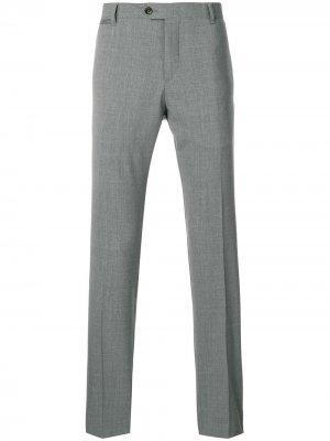 Классические брюки Eleventy. Цвет: серый
