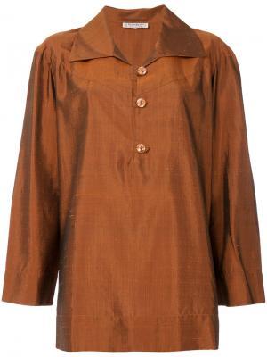 Текстурированная туника Yves Saint Laurent Pre-Owned. Цвет: коричневый