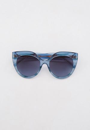 Очки солнцезащитные Elie Saab ES 081/S PJP. Цвет: голубой