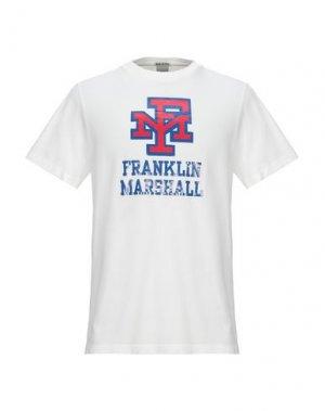 Футболка FRANKLIN & MARSHALL. Цвет: белый