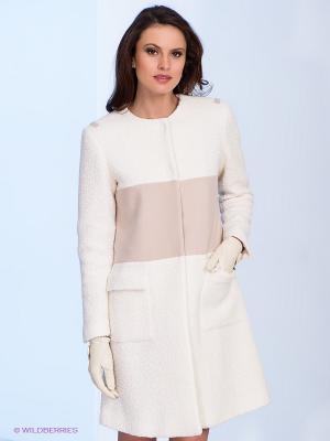 Пальто Fairly. Цвет: кремовый, белый