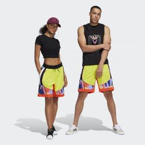 Баскетбольные шорты Badge of Sport Performance adidas. Цвет: желтый