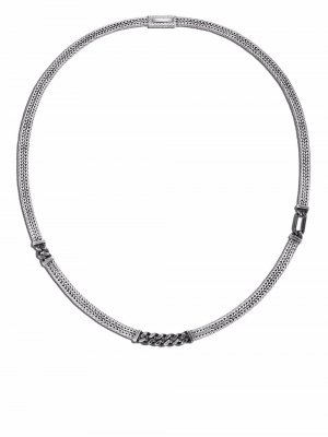 Серебряная цепочка на шею Rata John Hardy. Цвет: серебристый