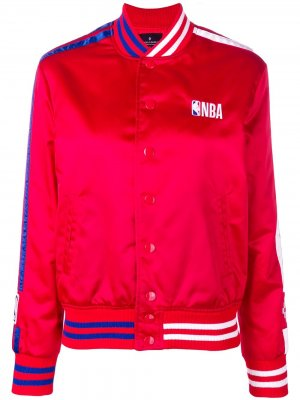 Куртка-бомбер NBA Marcelo Burlon County of Milan. Цвет: красный