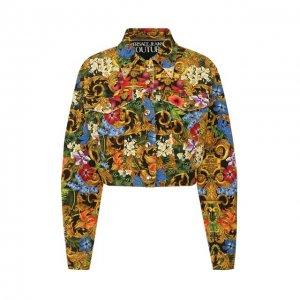 Джинсовая куртка Versace Jeans Couture. Цвет: разноцветный