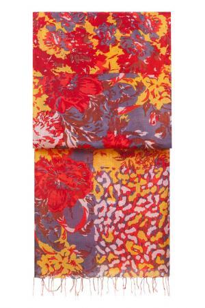 Палантин Michel Katana. Цвет: красный, карминовый, оранжевый