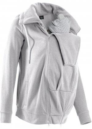 Куртка трикотажная для беременных bonprix. Цвет: серый