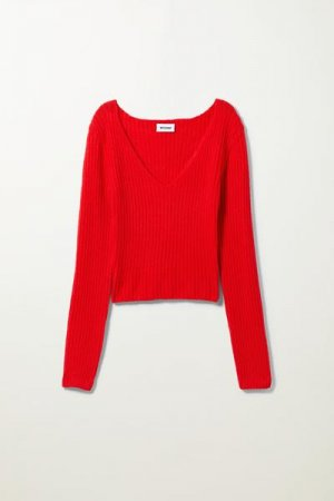 Пуловер Paolina Weekday. Цвет: красный