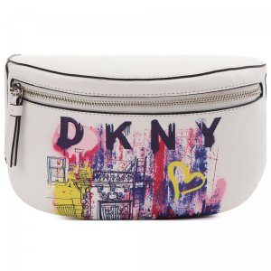 Поясная сумка DKNY. Цвет: белый