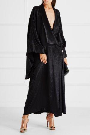 Атласное кимоно Cyrille Gassiline BASE. Цвет: черный