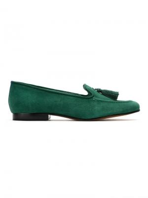 Barbicacho suede loafers Blue Bird Shoes. Цвет: зеленый